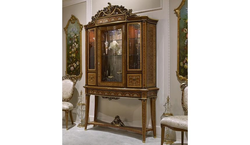 Upscale Bar Furniture Royal and Elegant Bar Cabinet from our Venetian modern classic collection 7024