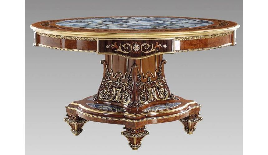 Foyer and Center Tables Sophisticated Admiral Geode Foyer Table Top​ Modern ​Classics Collection 7041