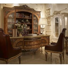 High End Luxurious Library Desk and Display Case from our Venetian modern classic collection 7043