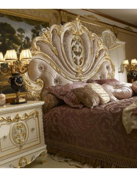 Queen and King Sized Beds Angelic Mother of Pearl Bed Backboard from our Venetian modern classic collection 7046