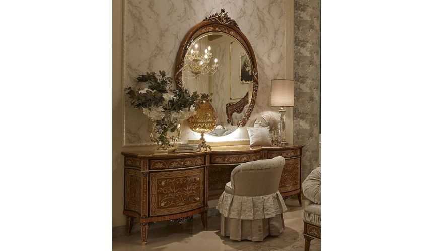 Dressing Vanities & Furnishings Extravagant High End Vanity and Mirror Set from our Venetian modern classic collection 7054