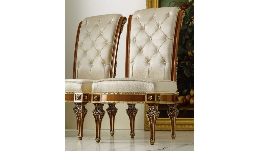 Dining Chairs Royal High End Ivory Dining Chair from our Venetian modern classic collection 7060
