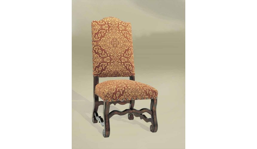 Dining Chairs Rustic Luxury Leather Furniture Red Side Chair