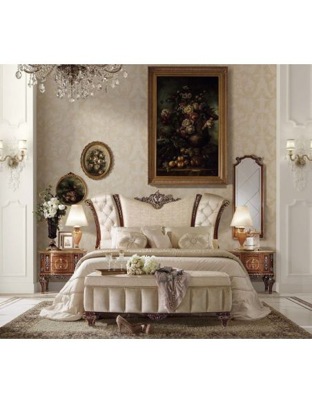 Queen and King Sized Beds Golden Angel Bedroom Set from our Venetian modern classic collection 7064