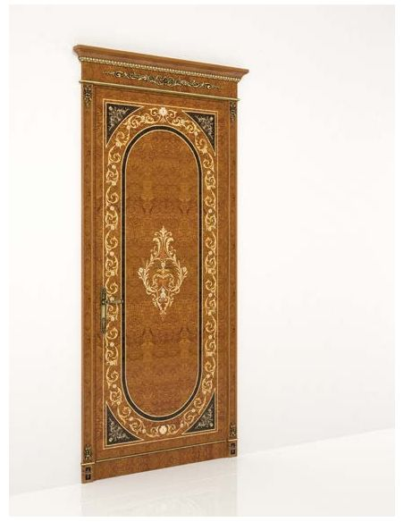 Architectural Wall & Ceiling Panels Royal Wooden Designed Single Door from our Venetian modern classic collection 7068