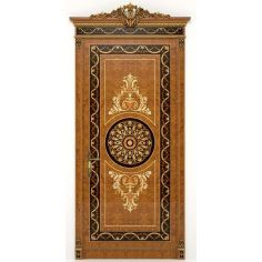 Deluxe Wooden Detailed Single Door with Medallion from our Venetian modern classic collection 7069