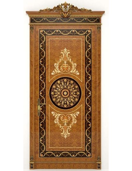 Architectural Wall & Ceiling Panels Deluxe Wooden Detailed Single Door with Medallion from our Venetian modern classic collec...