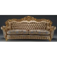 Luxurious Golden Petal Sofa from our European hand painted furniture collection. 7073