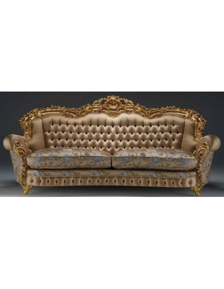 SOFA, COUCH & LOVESEAT Luxurious Golden Petal Sofa from our European hand painted furniture collection. 7073