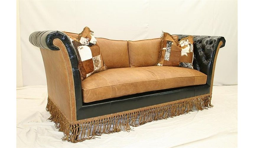 Luscious leather couch high style furniture