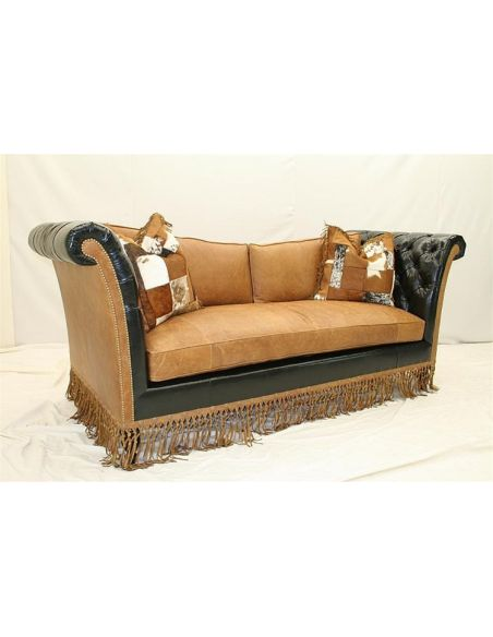 SOFA, COUCH & LOVESEAT Luxurious Western Ranch Sofa high style furniture