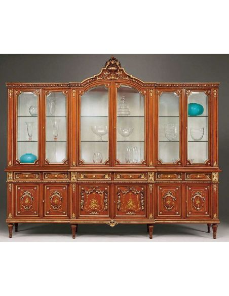 Breakfronts & China Cabinets Gorgeous Showcase Cabinet from our European hand painted furniture collection. 7077