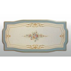Antique-looking Pastel Oval Central Table from our European hand painted furniture collection. 7085