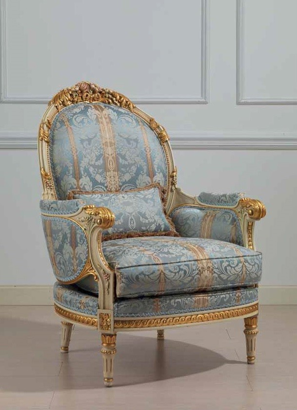 Winter Blue and Summer Gold Armchair from our European ...