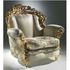 Extravagant Floral Cloud Armchair from our European hand painted furniture collection. 7088