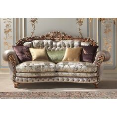 Deluxe Sparkling Champagne Sofa from our European hand painted furniture collection. 7089