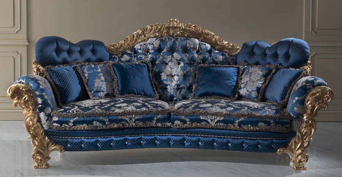 Magnificent Lavish Floral Deep Ocean Sofa From Our European Hand Painted Furnit Forskolin Free Trial Chair Design Images Forskolin Free Trialorg