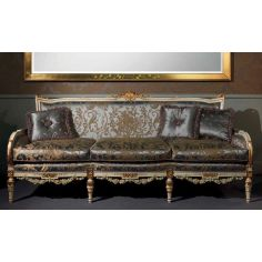 Deluxe Platinum and Golden Sofa from our European hand painted furniture collection. 7094