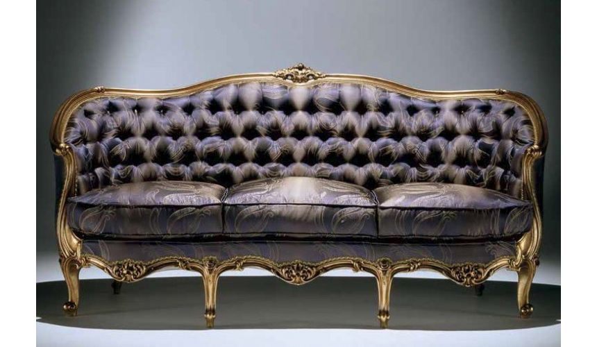 SOFA, COUCH & LOVESEAT Deluxe Midnight Mystery Sofa from our European hand painted furniture collection. 7100