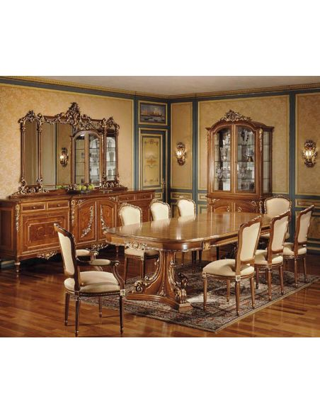 Dining Tables Deluxe Neutral Dinning Set from our European hand painted furniture collection. 7104