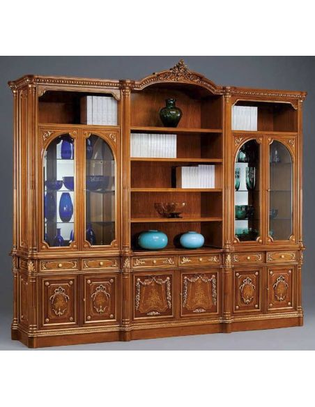 Breakfronts & China Cabinets Professional Showcase Cabinet from our European hand painted furniture collection. 7111