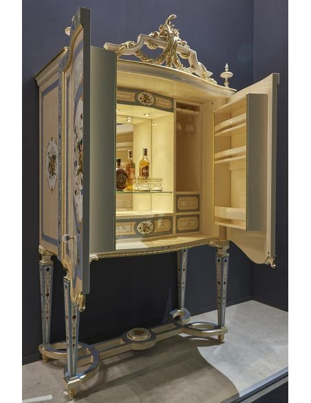 Upscale Bar Furniture Palatial Fairytale Cocktail Cabinet from our Venetian modern classic collection 7038