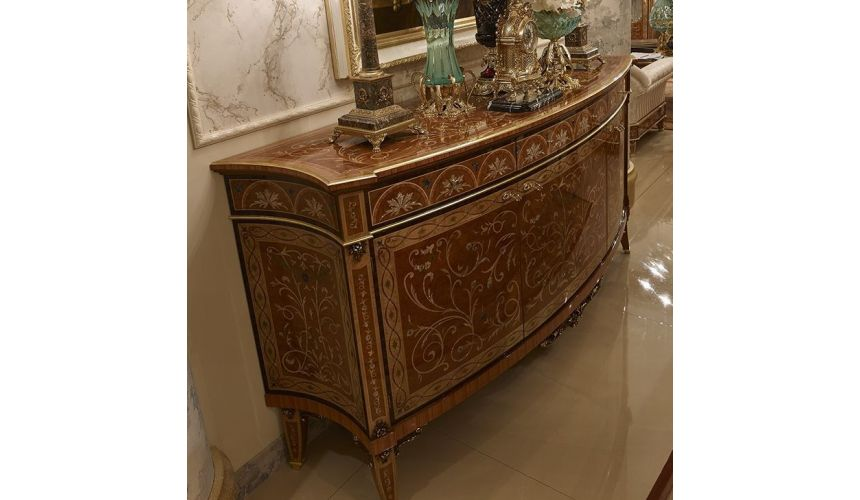 Chest of Drawers High End Intricate Breakfront from our Venetian modern classic collection 7039