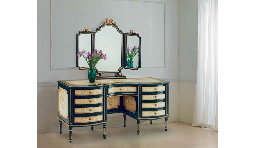 Dressing Vanities & Furnishings Image of Spring Dressing Table and Mirrors from our European hand painted furniture collectio...