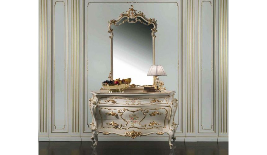 Chest of Drawers Persephone's Chest of Drawers with Mirror from our European hand painted furniture collection. 7129