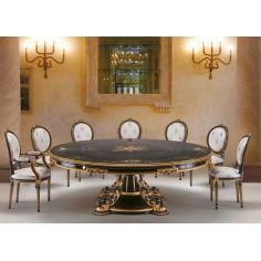 Black and White Dining Set from our European hand painted furniture collection. 7130