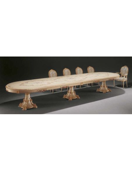 Dining Tables Elegant Made for Angels Dining Set from our European hand painted furniture collection. 7131