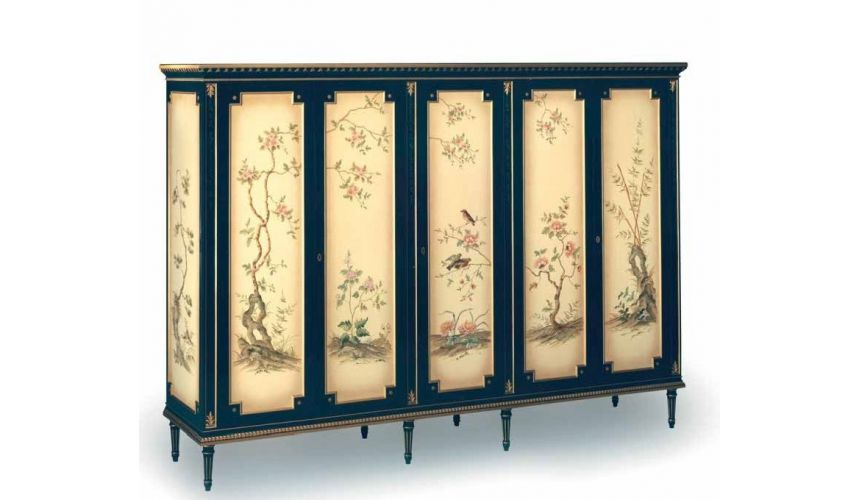 Display Cabinets and Armories The Picture of Spring Wardrobe from our European hand painted furniture collection. 7124