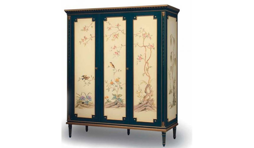 Display Cabinets and Armories Mother Nature's Wardrobe from our European hand painted furniture collection. 7127