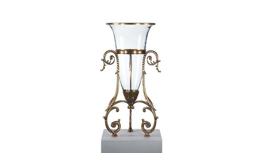 Decorative Accessories Luxury Interior Decor Bullet Vase With Holder