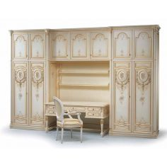 Angelic Pure as Gold Desk and Cabinets from our European hand painted furniture collection. 7123