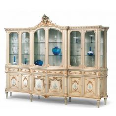 Cream and Golden Showcase Cabinet from our European hand painted furniture collection. 7116