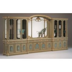Deluxe Poseidon's Castle Showcase Cabinet from our European hand painted furniture collection. 7115