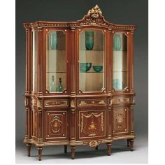 Deluxe Showcase Cabinet with Golden Detail from our European hand painted furniture collection. 7108