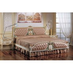 Elegant Peaches and Cream Bed Set from our European hand painted furniture collection. 7139