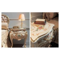 Beautiful and Bright Floral Night Tables from our European hand painted furniture collection. 7140