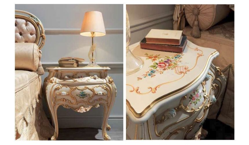Chest of Drawers Beautiful and Bright Floral Night Tables from our European hand painted furniture collection. 7140