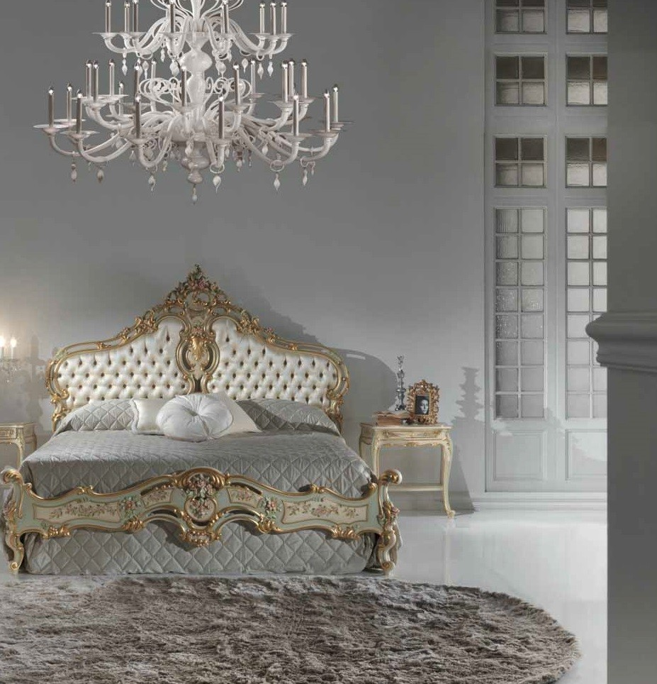 European Luxury Bedroom: Luxurious Mint And Cream Master Bed From Our European Hand