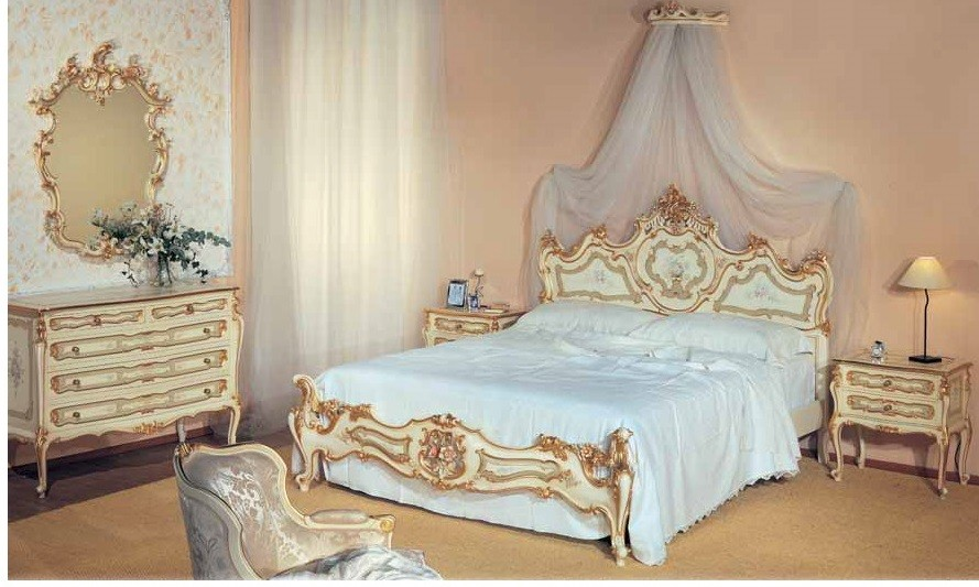 Palatial Cream And Golden Bed Set From Our European Hand