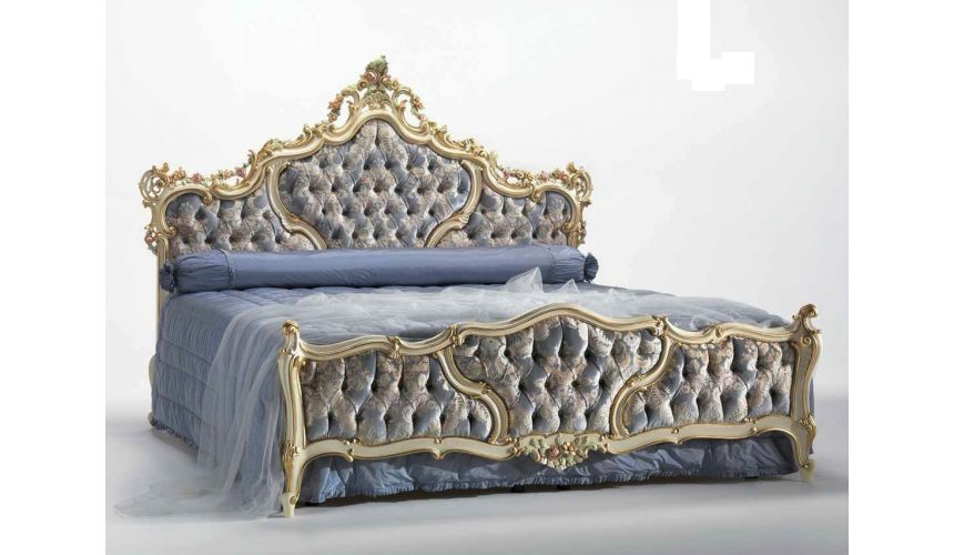 Luxury Bedroom Furniture Palatial Cinderella Bed from our European hand painted furniture collection. 7148
