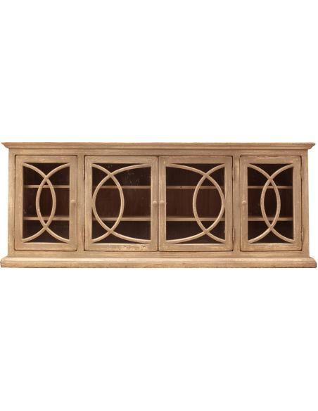 Breakfronts & China Cabinets 4 Door Fretwork Cabinet
