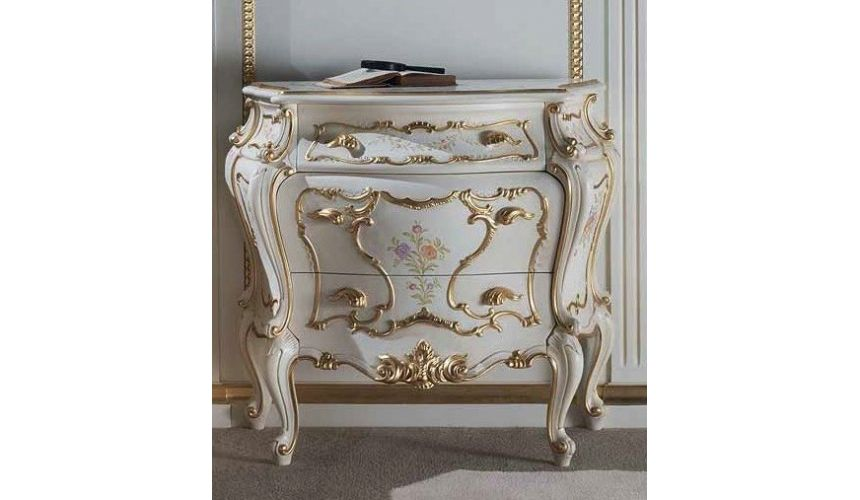 Chest of Drawers Royal Strokes of Spring Night Table from our European hand painted furniture collection. 7153