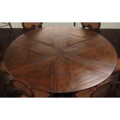 Solid walnut Jupe Dining Table 100 inches open