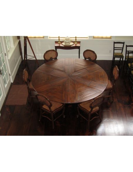 Dining Tables Solid walnut Jupe Dining Table 100 inches open