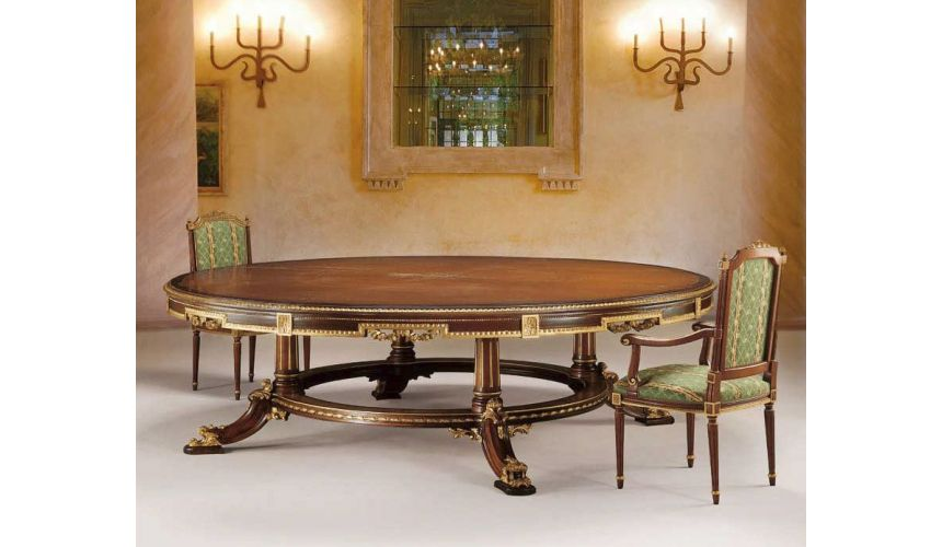 Dining Tables High End Forest and Golden Round Table from our European hand painted furniture collection. 7204