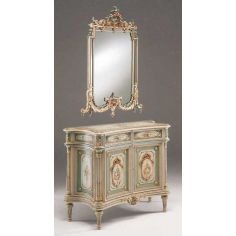 Antique-looking Floral Sideboard from our European hand painted furniture collection. 7207